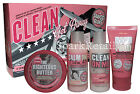 Soap and Glory CLEAN GET AWAY Gift Box: Clean on Me/Righteous Butter/Hand Food