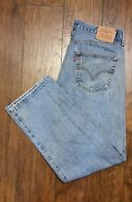 Levi's 501 Button Fly Distressed Destroyed Jeans SZ. 36x30 Meas. 34x29
