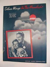 Silver Wings in the Moonlight 1943 sheet music Lawrence Welk Jayne Walton