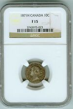 Scarce Canada 1871 H 10 cents NGC F15