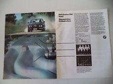 advertising Pubblicità 1985 BMW 6 CILINDRI 520/320