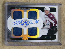 11-12 UD The Cup Foundations Quad Jersey & Auto MATT DUCHENE /15