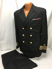 WWII US Navy Seabee Officer Dress Blue Jacket & Pants - Commander