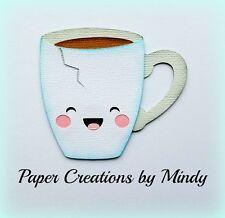 Mindy Kawaii Teacup Dinner Plate premade paper piece scrapbook die cut planner