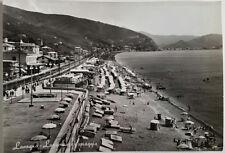Cartolina Lavagna Lungomare e spiaggia VIAGGIATA Postcard