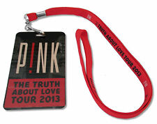 PINK P!NK THE TRUTH ABOUT LOVE 2013 TOUR LAMINATE & LANYARD NEW OFFICIAL SINGER