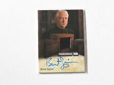 WAREHOUSE 13 SEASON 4 BRENT SPINER (BROTHER AIDAN ) AUTOGRAPH RELIC CARD