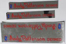 JMC ANDY PATTERSON STICKER DECAL FRAME SET NOS BMX old school SHADOW