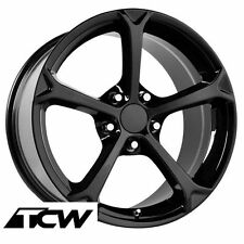 "17""/18"" Corvette C6 Grand Sport Gloss Black OE Replica Wheels Rims fit C5 97-04"