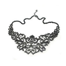 Necklace Collier Black Filigree Noir Baroque Victorian Salem Gothic Gothique