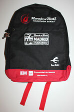 NEW 2016 MADRID Rock 'n' Roll MARATHON Black & Red BACKPACK / DAYPACK with PIN