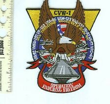 Military Patch US Navy CVW-1 Enduring Freedom CVN-71-B