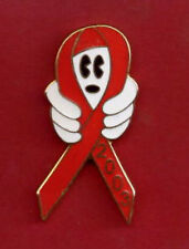Disney Fantasy pin -  GLOVED HANDS HOLDING A RED AWARENESS RIBBON