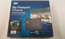 Western Digital WD My Passport Cinema 1TB, 4K UHD Preloaded Movie Storage (