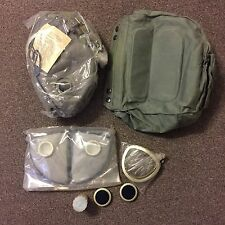 Polish MP4 MP 4 Gas Mask Rare Large Size 3 Complete Bag Filters NBC M17 Unissued