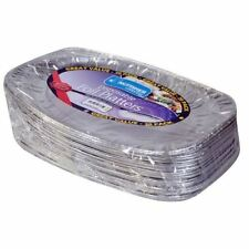 Party Serving Foil Platters Disposable Catering Food Snacks Oval Tray Plate x 20