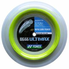Original Yonex BG66 Ultimax (Yellow) 656ft 200m Reel Badminton String