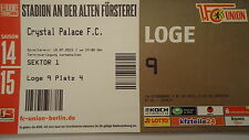 VIP TICKET Loge Friendly 2015/16 Union Berlin - Crystal Palace FC