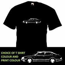 SAAB 900 TURBO T SHIRT retro car inspired tee motoring classic gift design