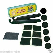 12 X Self Adhesive Patch Tyre & Lever Kit Puncture Repair Bike Bicycle Tube 3773