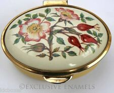 Staffordshire Enamels Old Hall Wild Rose Enamel Box