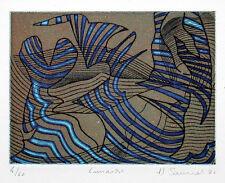 """Hector Saunier (1936) """"Lunaire"""" (aquatinta)"""