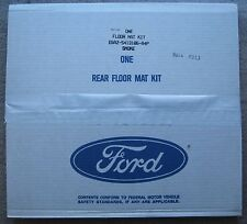 2 Vintage new old stock Ford rear carpeted floor mats Smoke gray classic car