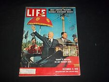 1959 DEC 21 LIFE MAGAZINE - TRIUMPH IN PAKISTAN - BEAUTIFUL FRONT COVER - GG 754