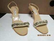 Oscar de la Renta Beige Heeled Sandals 38