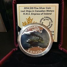 99-CENT AUCTION Canada 2015 $20 Silver Coin R.M.S EMPRESS OF IRELAND Lost Ships