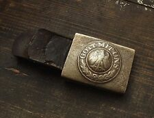 Original WWII Relic German army Belt Buckle Weimar M1921 ( 2.Pz./ Abw. ) Tankman