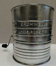 Vintage BROMELL'S Measuring Flour Sifter 2,3,4 & 5 Cup CRANK handle made in USA