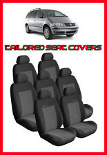 TAILORED SEAT COVER FOR  VOLKSWAGEN  SHARAN 1995 - 2010 FULL SET 7 SEATER grey2