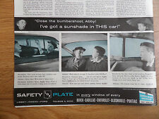 1959 Libbey Owens Ford Glass Ad Prudence & Abby Hamilton & Westman Buick Olds ?