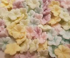 30 Edible Sugar Paste Pretty Pale Pastel Mini Petunia Flowers Toppers Wedding