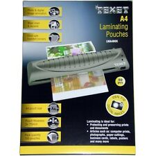 Pack of 50 x TEXET A4 Laminator Laminating Machine Pouch Pouches (£5.38 per 100)