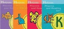 Horizons KINDERGARTEN Grade K PHONICS & READING Homeschooling WORKBOOKS Set 1-4