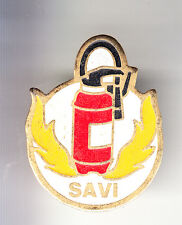 RARE PINS PIN'S .. POMPIER FIRE EXTINCTEUR INCENDIE SAVI FRANCE ~BT