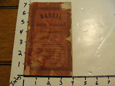 Vintage book: MANUAL AND STREET DIRECTORY OF THE CITY OF BOSTON  circa 1891