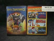 Hotell Transylvania 1 & 2, Cloudy with a Chance of Meatballs, Smurfs DVD  New