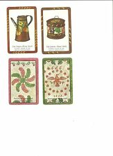Playing  Card  SAMPLE - BLANK  back - lot of 4 - PA Dutch - National Gallery Art