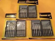 33pc Precision Screwdriver Set Micro Hobby Jeweler Watches Slotted Repair Case