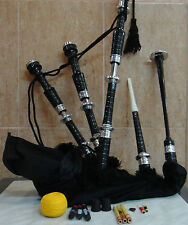 SCOTTISH GREAT HIGHLAND BAGPIPE ROSEWOOD SILVER MOUNT PRACTICE CHANTER bagpipes