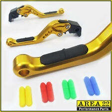 Area 22 Moto Guzzi V9 Bobber 2016 Rubber Insert Adjustable Short Levers Gold