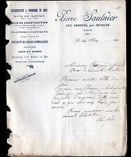 """LES ARPENTS prés de MEAULNE (03) SCIERIE """"Pierre SAULNIER"""" en 1911"""