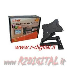 SUPPORTO TV BRACCIO 23 24 25 27 29 32 37 40 42 POLLICI LCD LED 3D PLASMA STAFFA