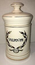 Vintage Apothecary Pharmacy Jar Valpin PB Endo USA Ceramic Pottery EXCELLENT
