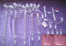 Kemtech America Advanced Organic Chemistry Lab Glassware Kit 24/40 & Metal Clips