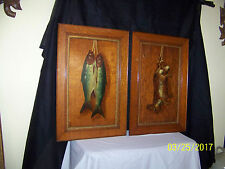 Pair c1900 Arts & Crafts Original Oil On Panel Dead Game Paintings Artist Signd