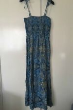 Blue Patterned Maxi Dress - Size 16 - Brand New with tags